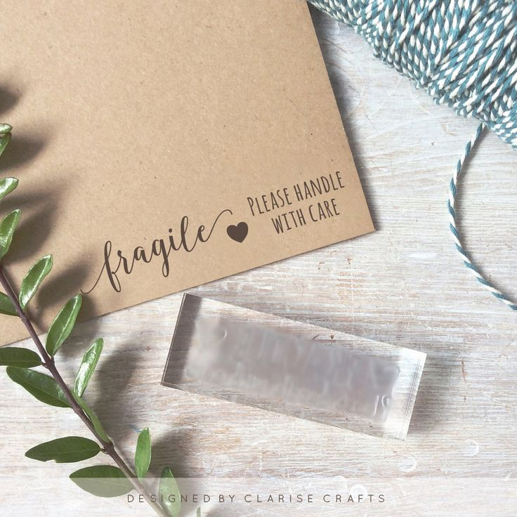 Long Fragile Handle With Care Stamp Small Business