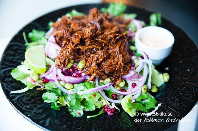 Pulled Chicken Sallad med Chipotle Mayo - 56kilo - LCHF Recept och Livsstil!