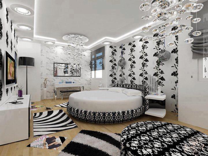 Zebra print, bedroom, circle bed, huge, black and white | Zebra ...
