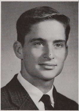 High School yearbook photo of actor Michael Douglas - 1963 Choate Rosemary Hall High School, Wallingford, Connecticut. The year that this was taken, another Choate graduate -- John F. Kennedy -- President of the United States of America from Jan. 20, 1961 - Nov. 22, 1963.  Assassinated Nov. 22, 1963 Dallas, TX