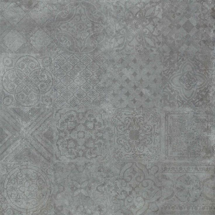 Decorative Tiles Floor Tile Decor Icon Dark Gray 60x60cm Rectified