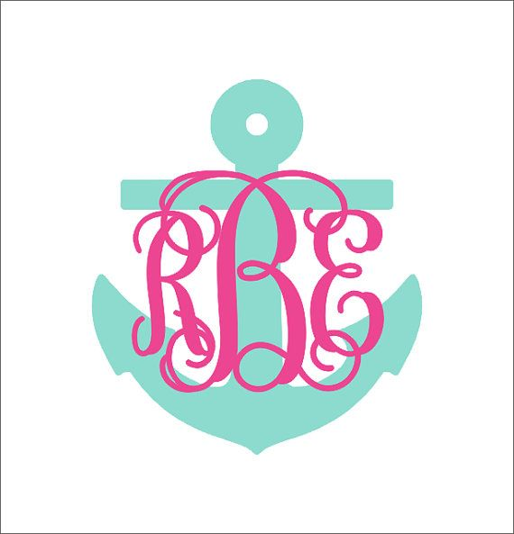 Best Monogram Tshirts Images On Pinterest - Anchor monogram car decal