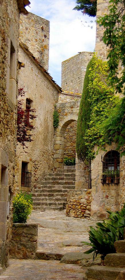 Bonitos edificios de piedra.