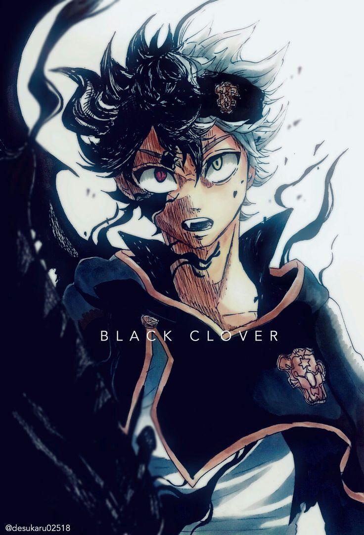 Black asta black clover blackclover demon anime manga plusultra