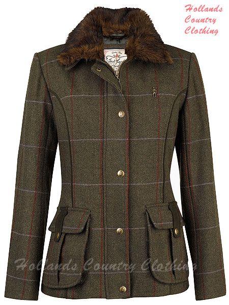 Arunia Ladies Tweed Jacket in Clevland Tweed
