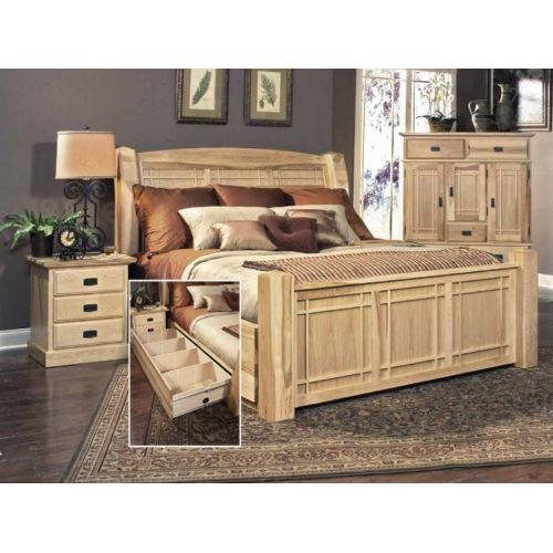 Hickory highlands king bedroom suite with under bed for Bedroom furniture in zanesville ohio