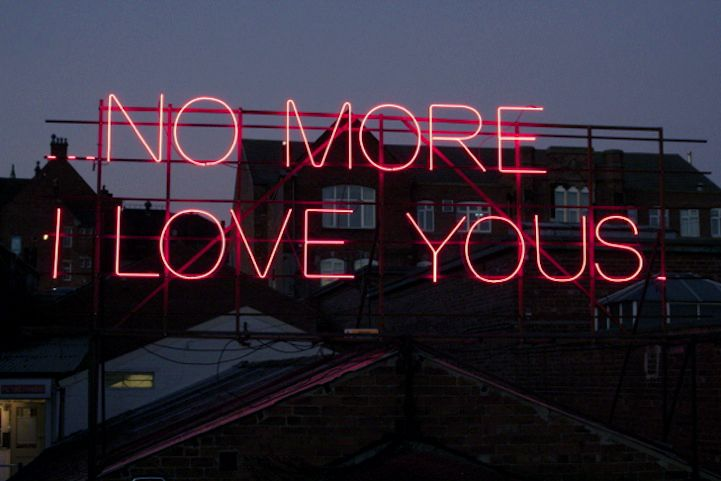 nickirosetta ✧ pinterest no more I love you's song lyrics Annie Lennox neon sign typography lights