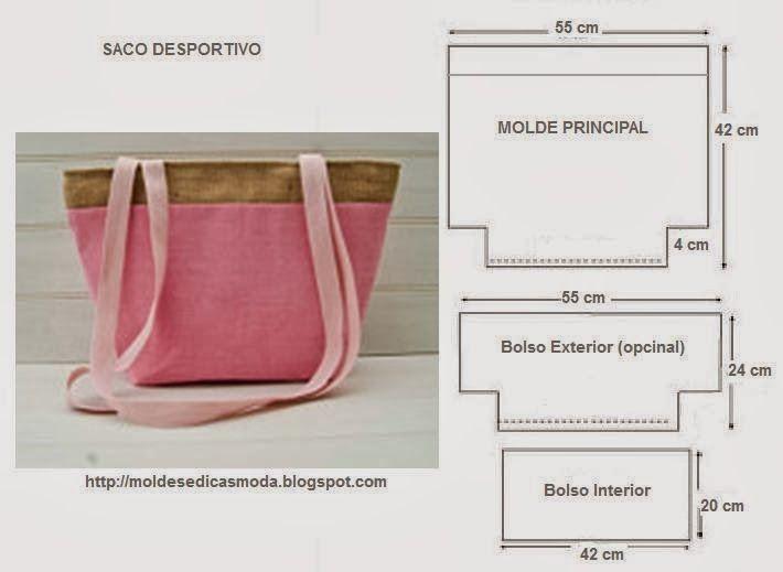 Fátima Carvalho Lopes - Blog Moldes Moda por Medida: SACO DESPORTIVO. FICA BEM NUMA IDA À PRAIA, IR ÁS COMPRAS OU LEVAR AO GINÁSIO, ETC...
