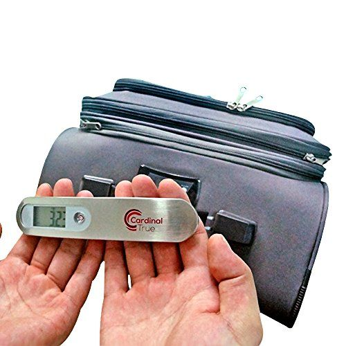 Luggage Scale - Portable Digital Handheld Scales From Cardinal True. Determine Baggage Weight to Avoid Airline Fees. Easy to Read and Travel Ready. Weigh Suitcase with Precise Electronic Display Using a Simple, Durable Postal Strap. 110 Lbs / 50 Kg Cardinal Deals http://www.amazon.com/dp/B010TKAEA6/ref=cm_sw_r_pi_dp_mX.Svb0WEE07D