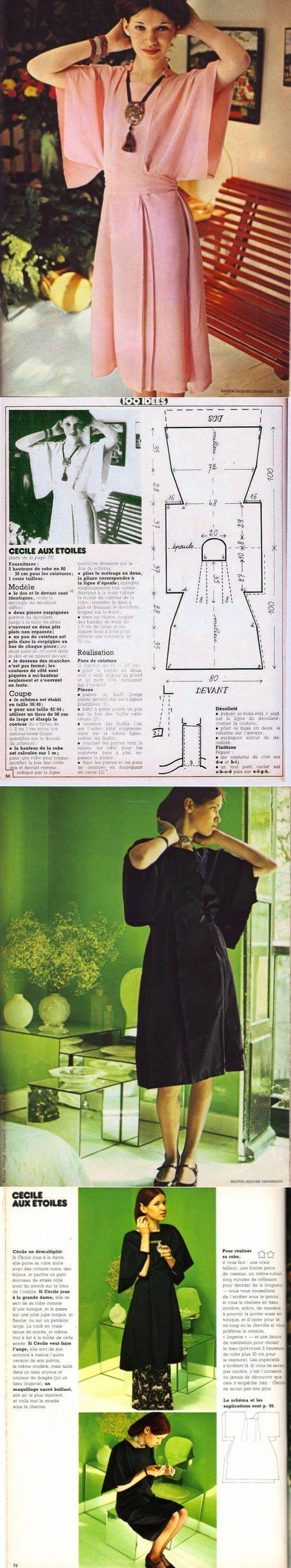 Einfaches und stilvolles Kleid (Retro-Muster