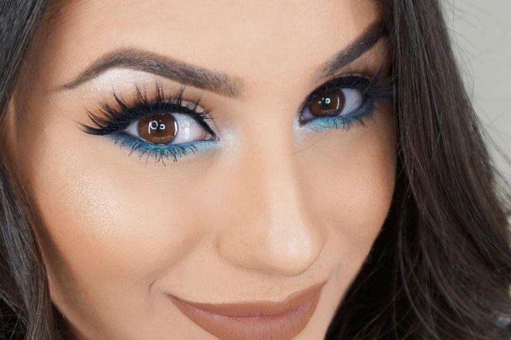 Bildresultat für Mädchen mit Augenzwischenlage blau
