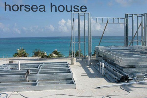 Beach steel construction villa frame house