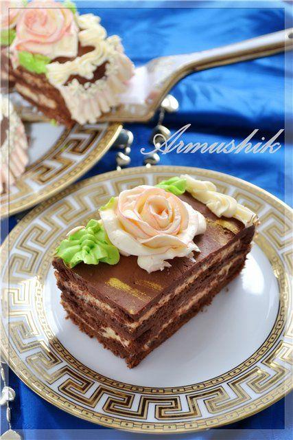 ВКУСНО С АРМУШИК - Торт «АРЛЕКИН» с прослойкой нежного крема «крем-брюле»