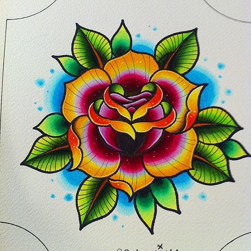 Traditional Flower Tattoo Flash 11167753323 925e9b8d44 jpg