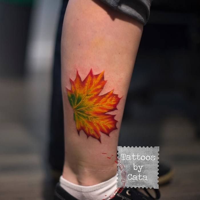 Maple Leaf Tattoo by tattoosbycata