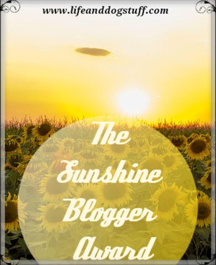 Our Sunshine Blogger Award blog post.