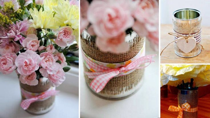 Ces boîtes de conserves on en fait ce qu'on veut ! Des vases bien sur mais aussi des photophores, des numéros de tables, ou plus traditionnellement à accrocher à la voiture ou au vélo :) !&#8…