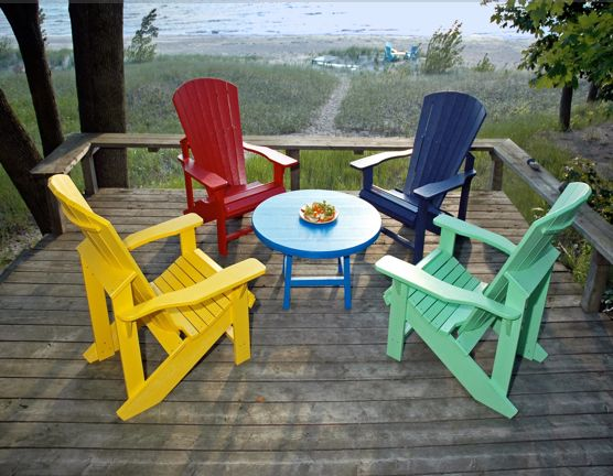 Chatelaine:  Our 7 favourite Muskoka chairs.  We've rounded up some of the most colorful renditions of the classic Adirondack chair – the favoured seat for the summer season – and reflect on its historical roots.