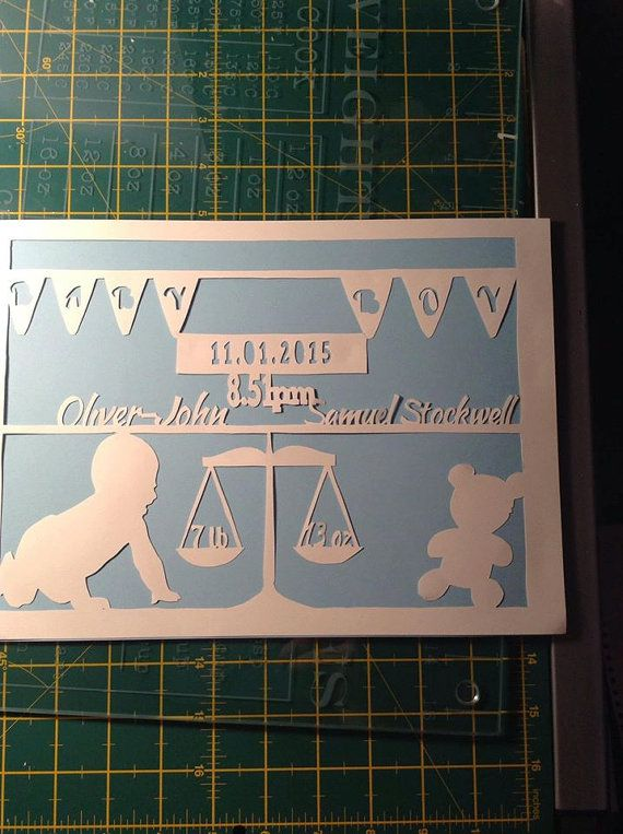Baby papercutting template