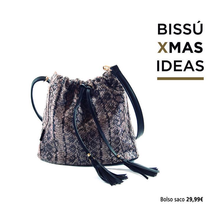 #bissuxmas IDEA 18 - Bolso tipo saco de polipiel con efecto piel de serpiente. ¡Práctico, cómodo y fácil de combinar con looks de día!. Consíguelo por tan solo 29,99€. #bolso #serpiente #estampadoserpiente #snake #estampado #navidad #christmas #regalos #gifts #presents #specialprice #inspiracion #inspiration #estilo #style #outfit #look #newin #newseason #nuevacoleccion #invierno #bestclothe #musthave #irresistibles