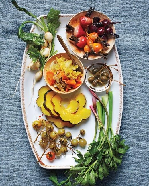 Pickle-Dressed Acorn Squash and Beets RecipeHoliday Parties, Beet Recipes, Holiday Recipe, Acorn Squashes, Food, Beets Recipe, Thanksgiving Appetizers, Picklee Dresses Acorn, Relish Trays