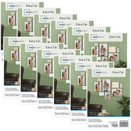 Mainstays 5x7 Format Picture Frame Set Of 12 White Products Picture Frames Frame White Picture Frames