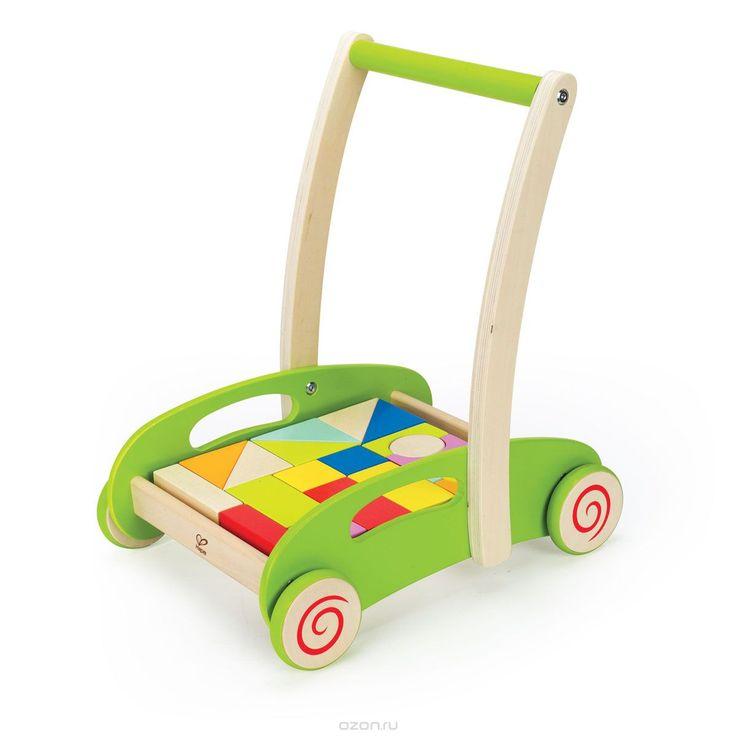 0371Развивающая каталка-конструктор Hape, непременно, понравится вашему малышу и подойдет для игры, как дома, так и на свежем воздухе. Игрушка выполнена из дерева с использованием нетоксичных красок в виде тележки с кубиками. Каталка оснащена четырьмя колесами и удобной широкой ручкой. Ребенок сможет катать игрушку, толкая перед собой. Опираясь на каталку, ребенок учится уверенно ходить, тренирует координацию и равновесие. Двадцать кубиков, входящих в комплект позволят малышу проявить…