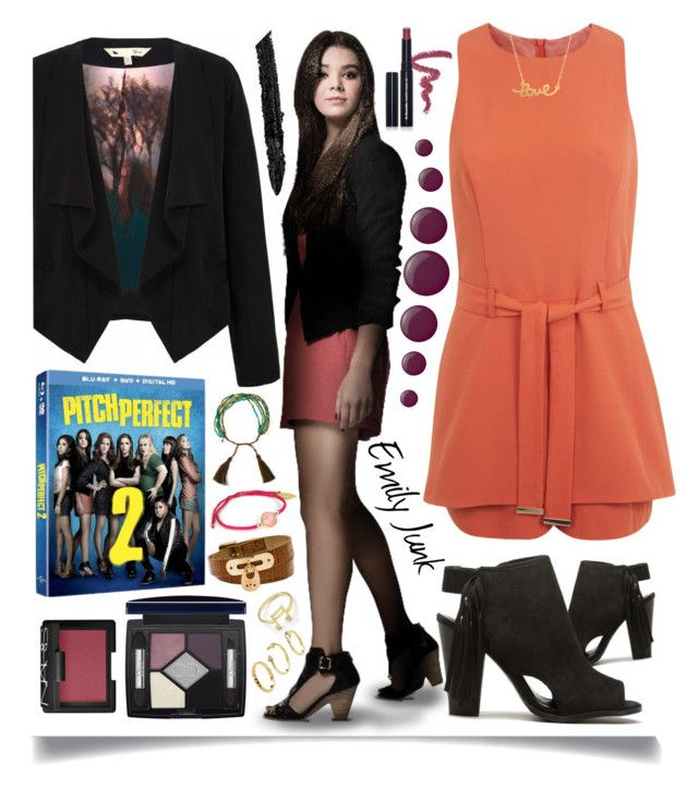 """""""Pitch Perfect 2 Style: Emily Junk"""" by ittie-kittie ❤ liked on Polyvore featuring Yumi, Miss Selfridge, Dr.Hauschka, Essie, Christian Dior, Michael Kors, Feather & Stone, Tai, Gucci and NARS Cosmetics"""
