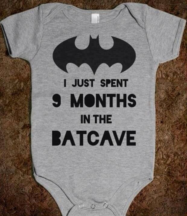 I would so buy this for anyone of my friends that is expecting a baby boy and if u name him Bruce Wayne :)