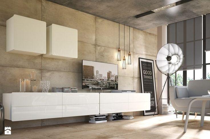 Possi Light - Salon, styl industrialny - zdjęcie od Black Red White