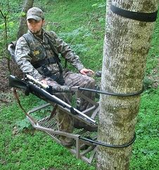 TREEWALKER Treestands are super lightweight aluminum, portable climbing treestands. The Promag series two piece climbing tree stands feature the comfortable EasyGlide� adjustable treestand seat.