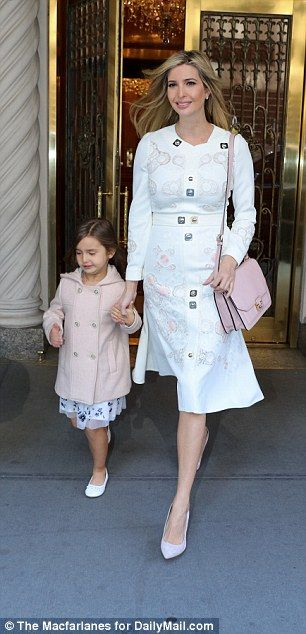 The 34-year-old co-ordinated outfits with her daughter Arabella (pictured together) for the occasion