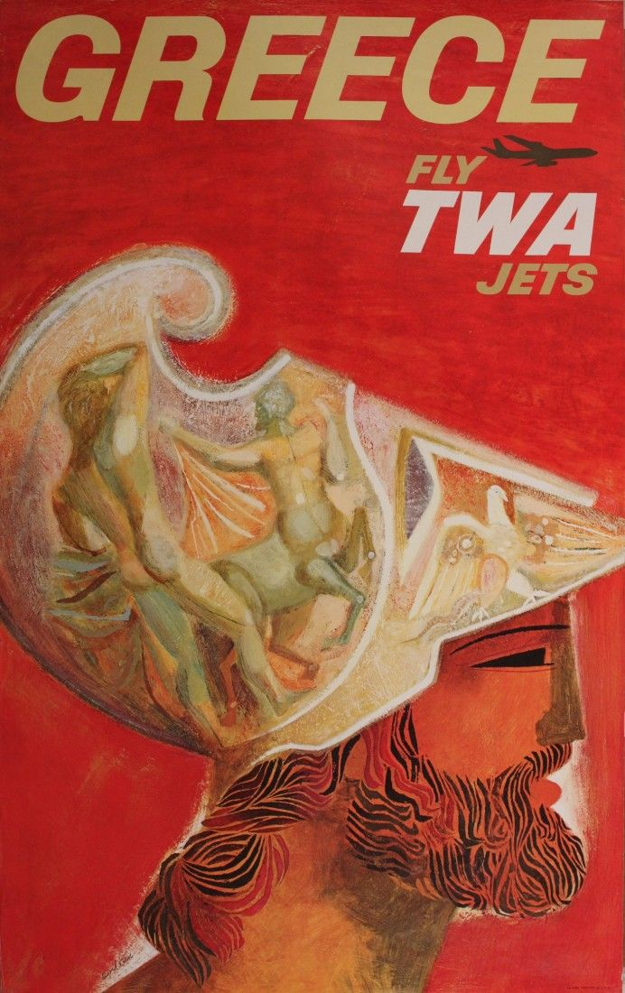 Greece - Fly TWA Jets - 1960's - (David Klein) -