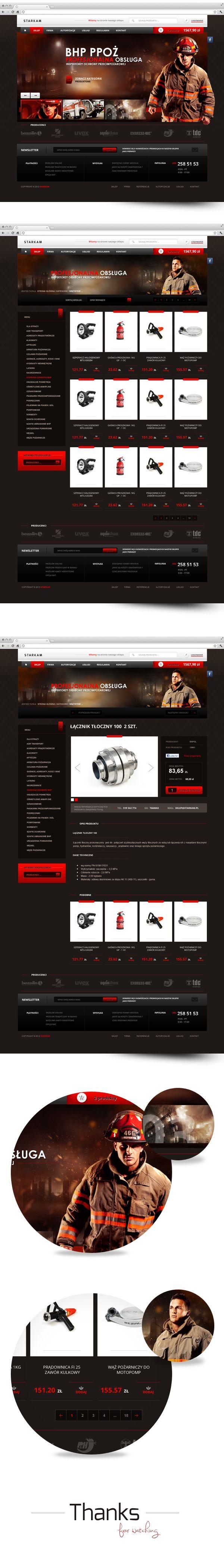 Starkam by Carlo, via #Behance #Webdesign