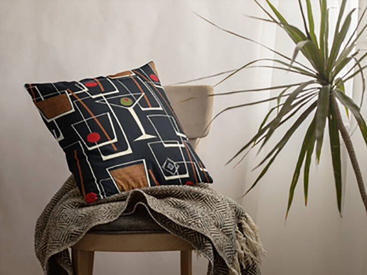 A personal favorite from my Etsy shop https://www.etsy.com/listing/558475877/mid-century-modern-pillow-case-retro