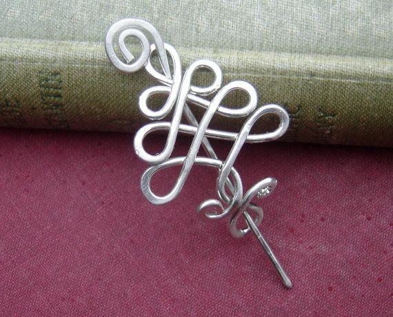 Piccolo albero celtico argento pizzo scialle Pin, Pin sciarpa, maglione spilla…
