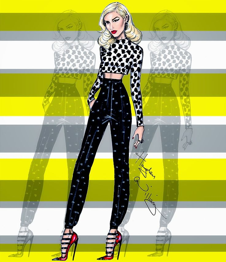 Hayden Williams Fashion Illustrations: Gwen Stefani by Hayden Williams