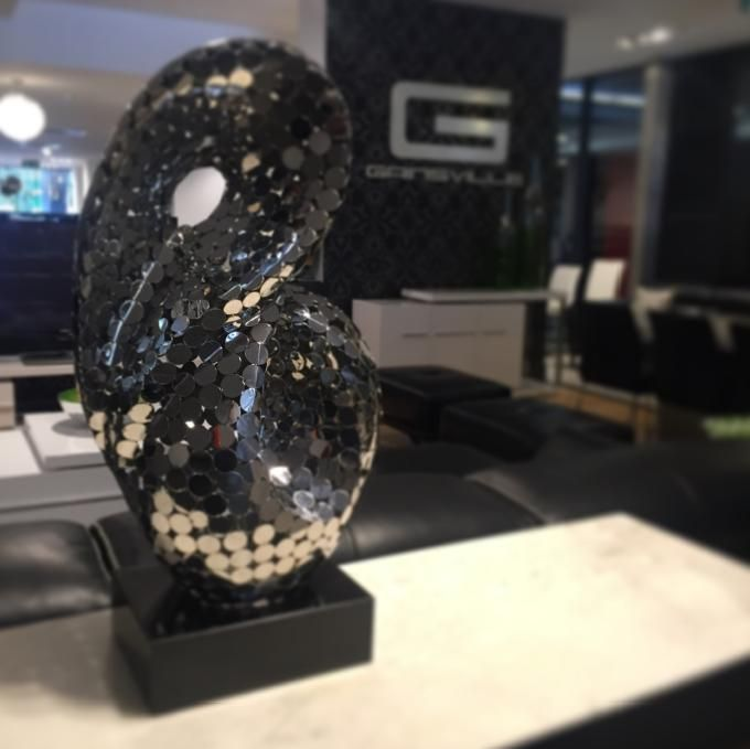 'Neon' Sculpture by Miss GVL, on display at our Southbank showroom in Melbourne. Visit today to see the rest of our stunning accessories.