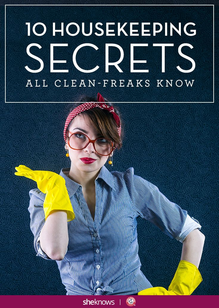 10 Housekeeping secrets: How your clean-freak friend really makes her house look so great.