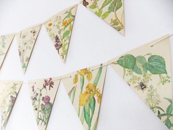 Spring and Summer Paper Bunting  recycled by peonyandthistle, £10.50