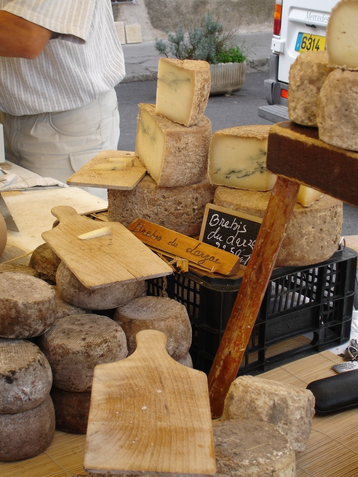 Cheese in the Market in Gordes, France (C) V.Barclay