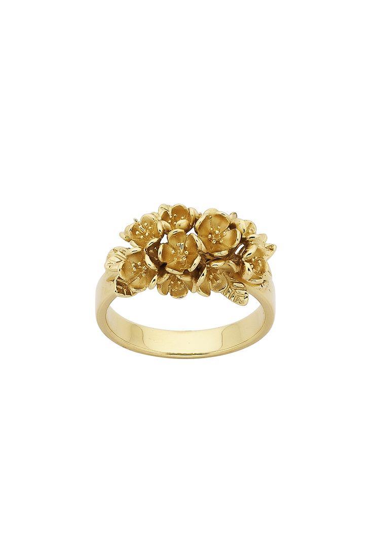 Цветок Кластера Кольцо Золото - Все Ювелирные Украшения   Карен Уолкер