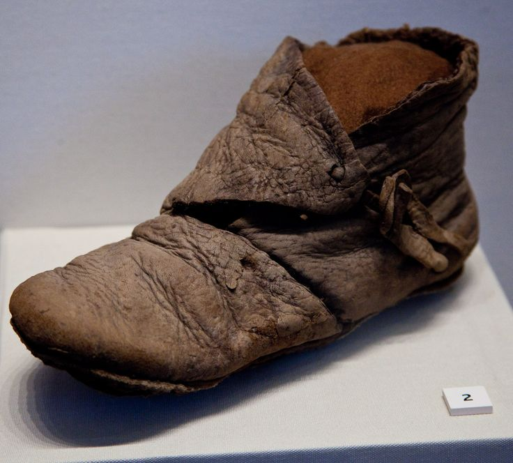 A 1200 year old Viking shoe from the Coppergate excavations in York.