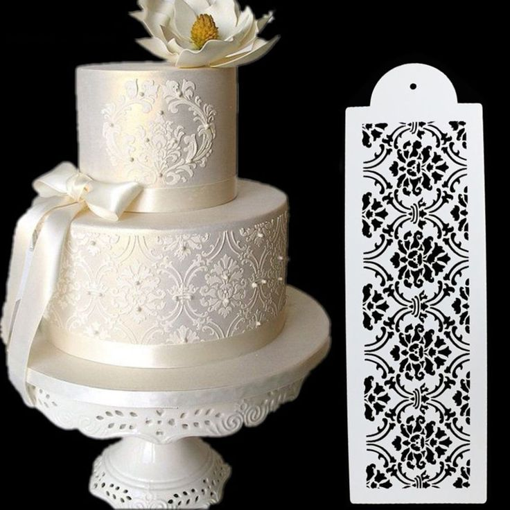 Best 25 cake stencil ideas on pinterest fondant cake for Lace templates for cakes