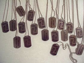 """The theme for our youth conference was B.O.O.T camp..Building Our Own Testimony  I was asked to make the """"dog tags"""".  I  have never used wa..."""