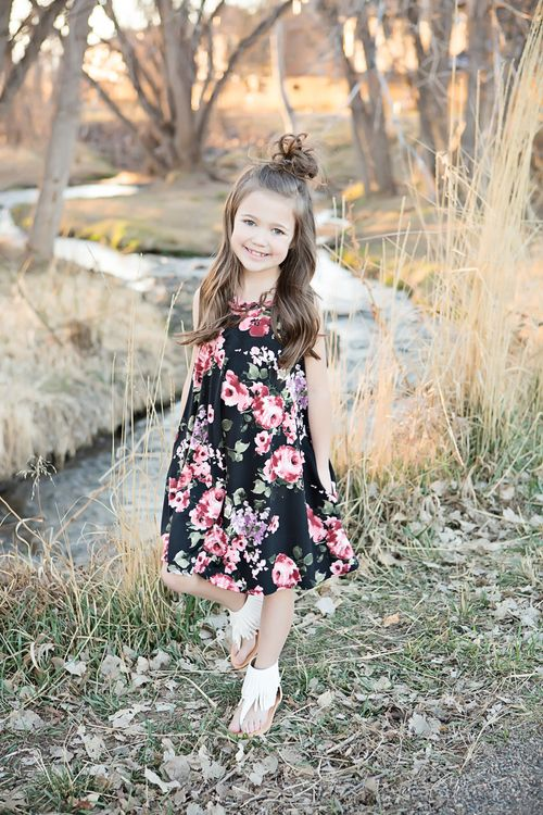 Floral Dress, Tank Dress, Online Shopping, Online Boutique, Ryleigh Rue, Fashion, Kids Clothing, Kids Fashion, Dress