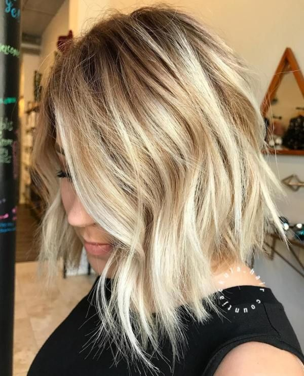 20 Long Choppy Bob Hairstyles for Brunettes and Blondes in