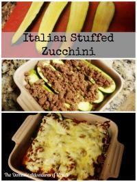 Healthy Italian Stuffed Zucchini