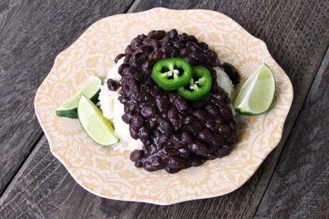 Cuban Black Beans from Scratch (in Pressure Cooker)