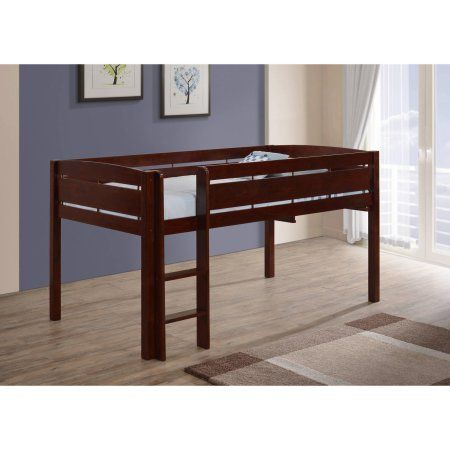Canwood Whistler Junior Loft Bed, Cherry, Beige